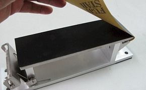 Please place the rubber board correctly as shown in the photograph.